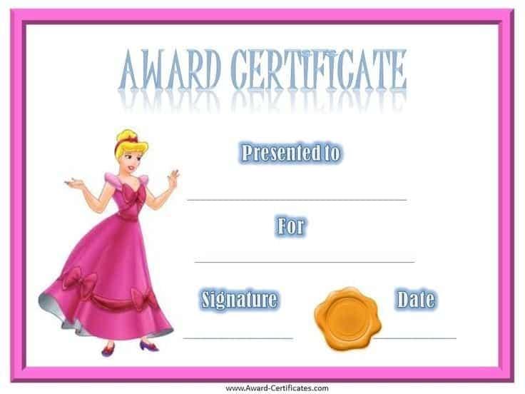 award certificate sample 8741