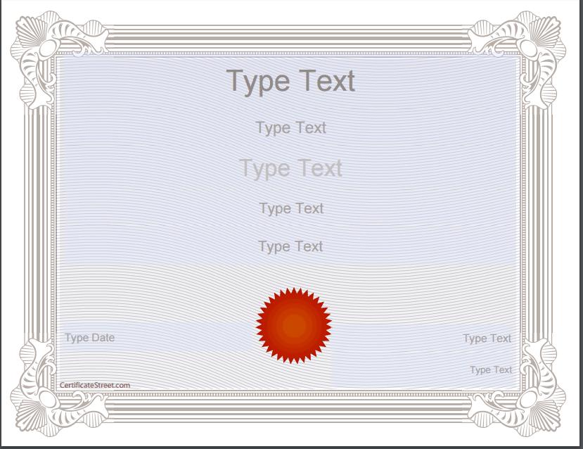 award certificate template 1997