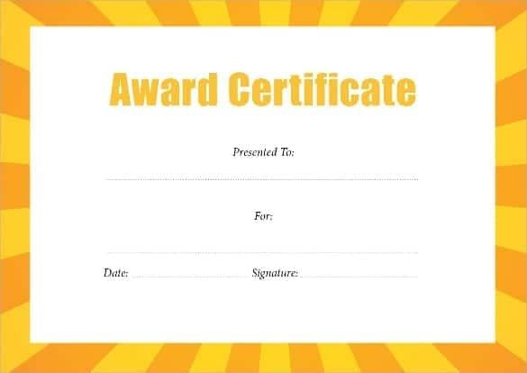 award certificate template 2574