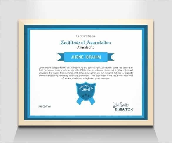 award certificate template 28744