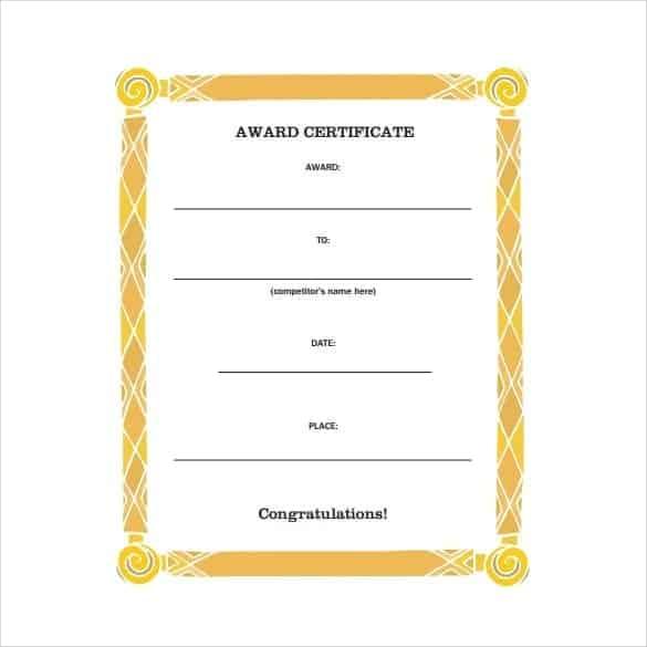 award certificate template 5741