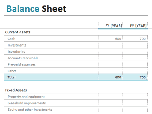 21 Free 22 Free Balance Sheet Template Word Excel Formats