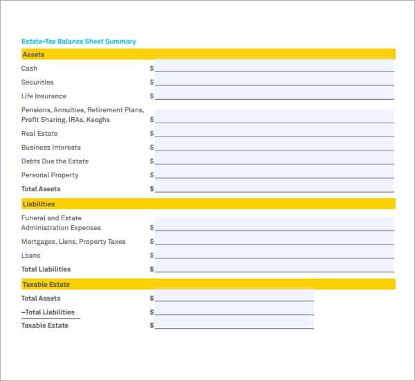 balance sheet sample 18.994