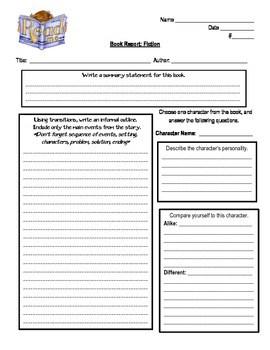 book report template 497