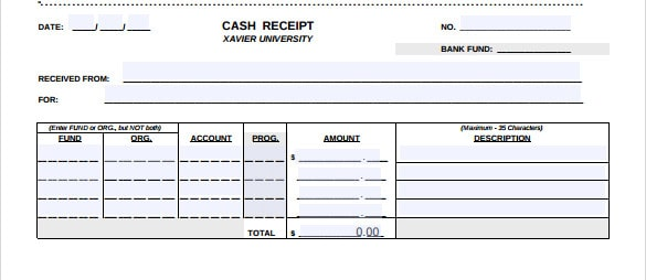 cash receipt example 67941
