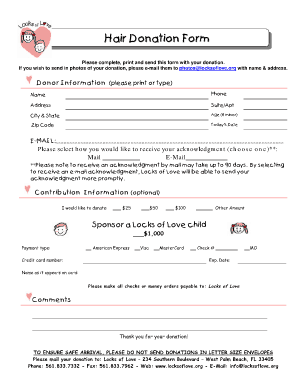 donation form template 8974