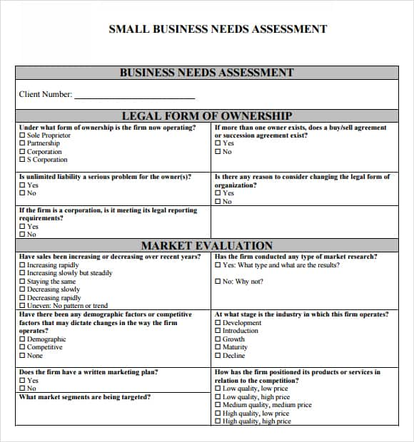 free assessment example 8413