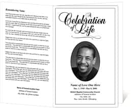 free funeral program sample 364