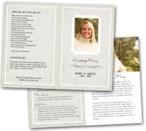 free funeral program sample 8964
