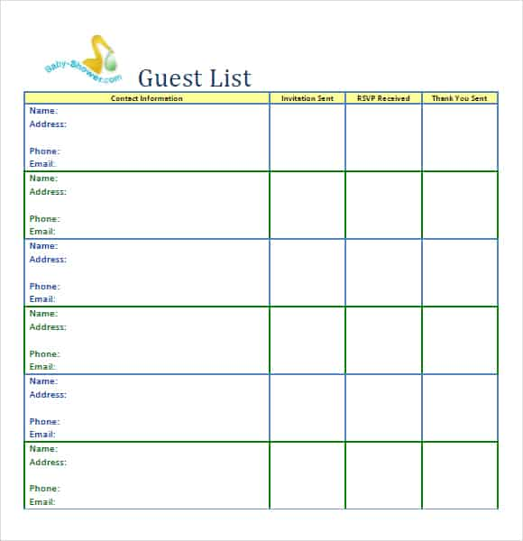 guest list example 19.941