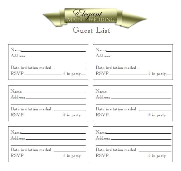 guest list example 20