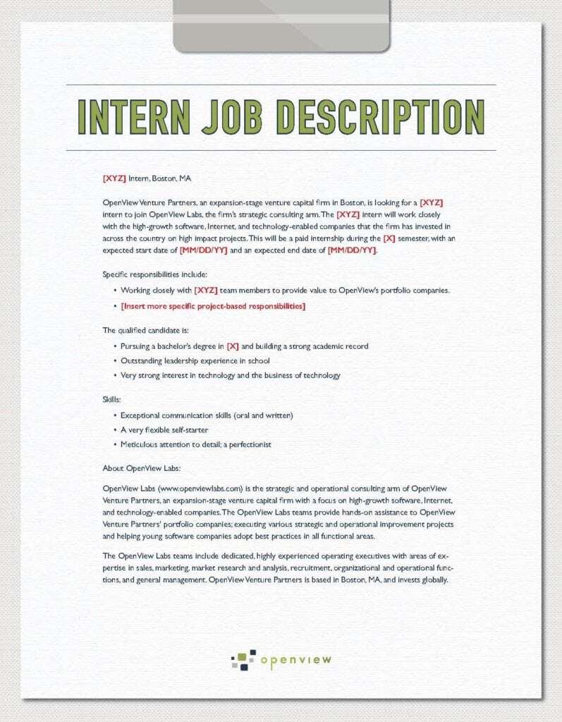 job description sample 10.4