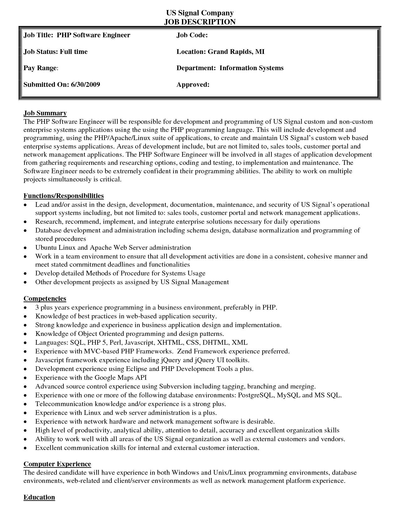 job description sample 15.64