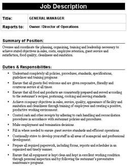 job description sample 3974