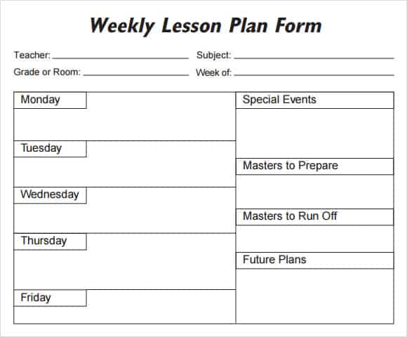 41+ Free Lesson Plan Templates in Word Excel PDF