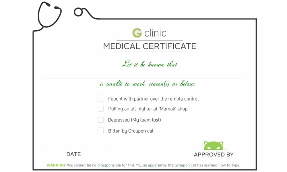 medical certificaet example 761