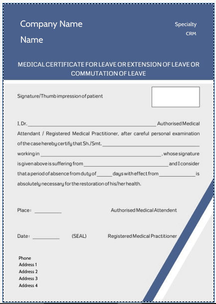medical certificaet template 1641