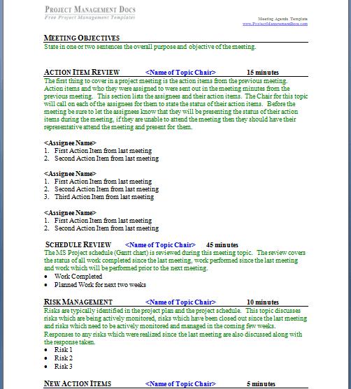 meeting agenda format 5894