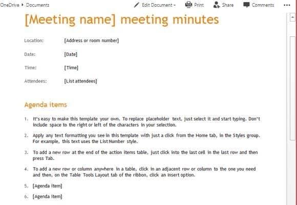 meeting minutes sample 16.641