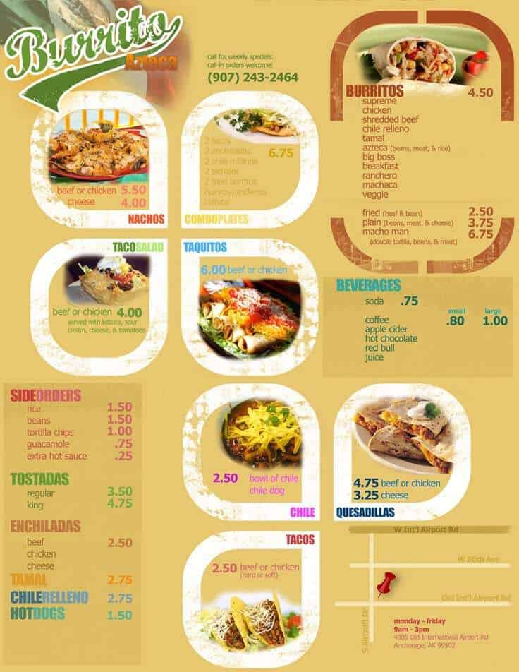 menu sample 16.41