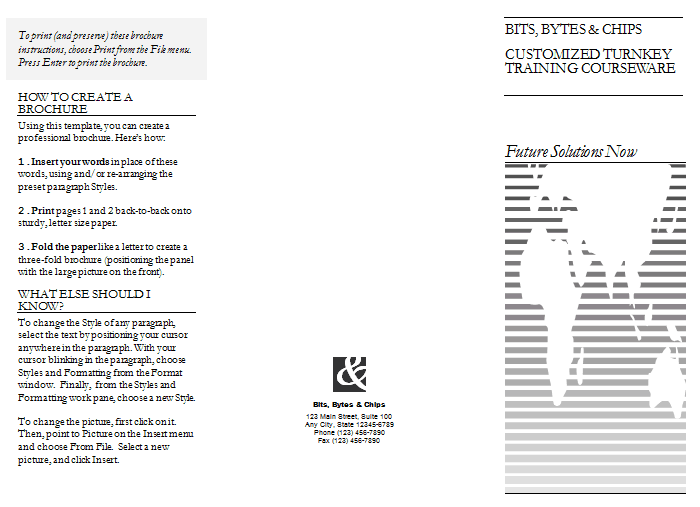 pamphlet template 241