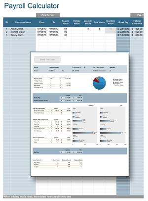 payroll template 49741