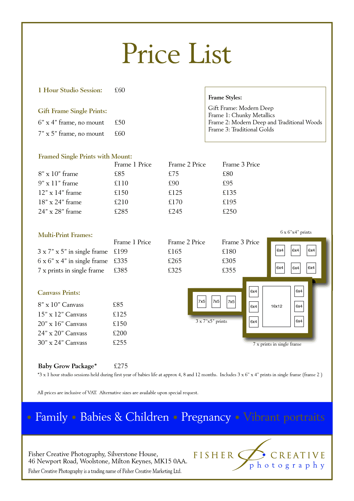 price list sample 694