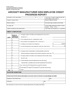 progress report sample 941