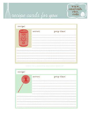 recipe card template 5741
