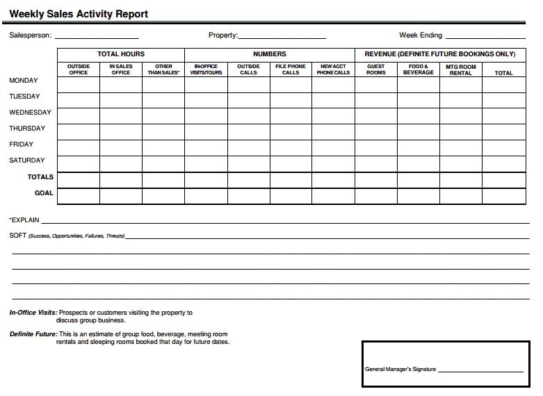 sales report template 4941