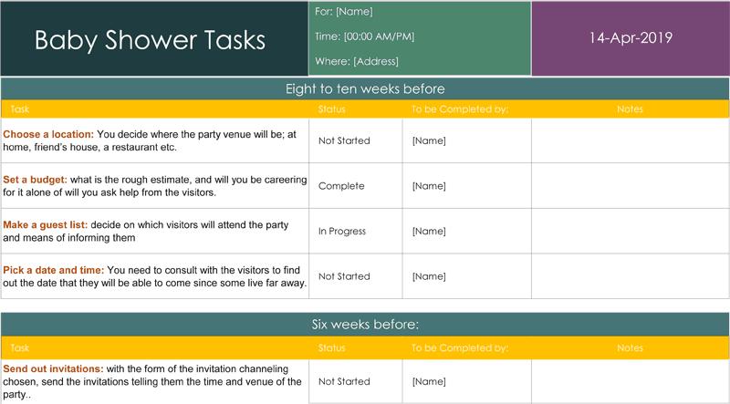 task list example 674