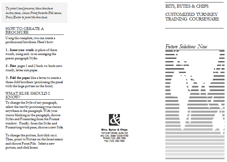 tri fold template 26494