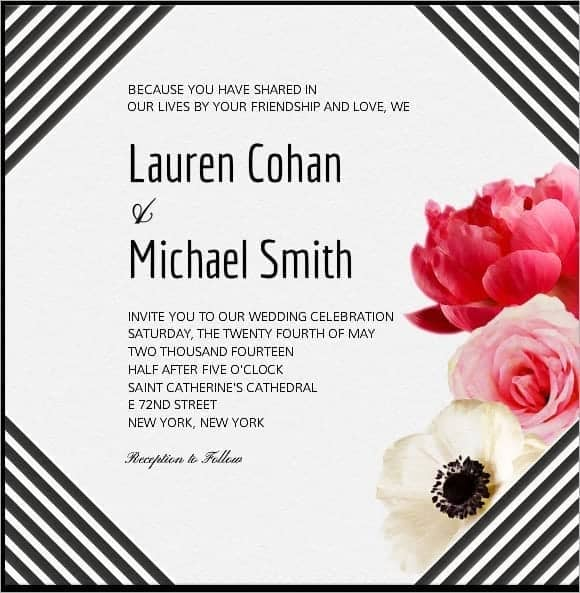 wedding invitation sample 2941
