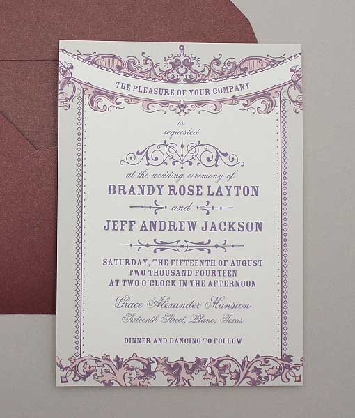 wedding invitation sample 491