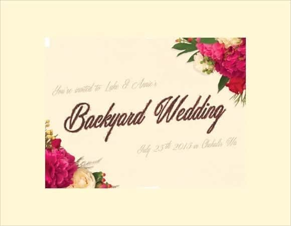 wedding invitation sample 6941