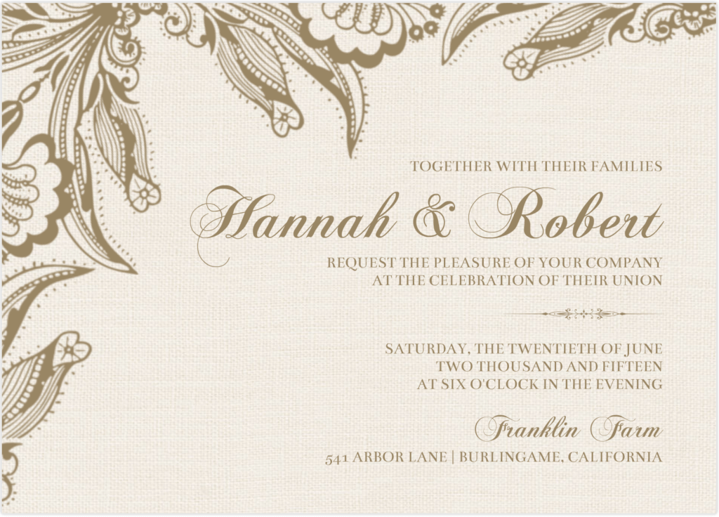 wedding invitation sample 746