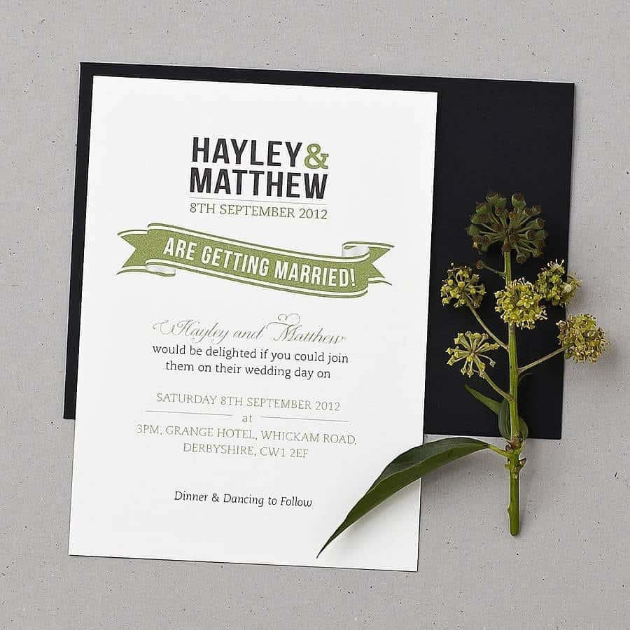 wedding invitation sample 9641