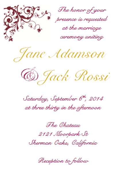 wedding invitation template 2644