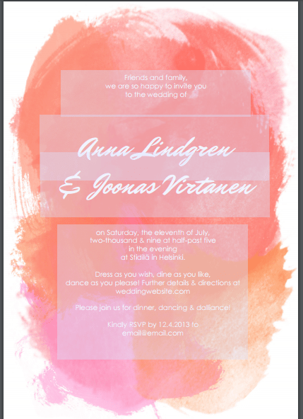 wedding invitation template 69741