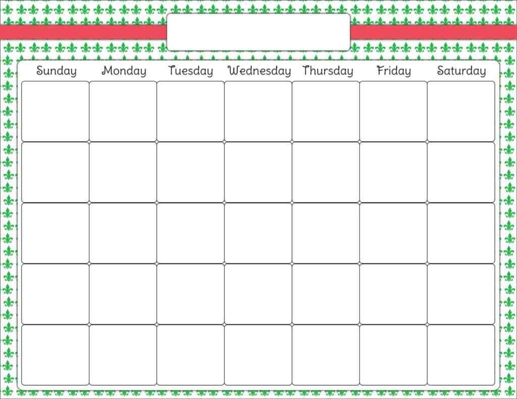 weekly schedule sample 18.46