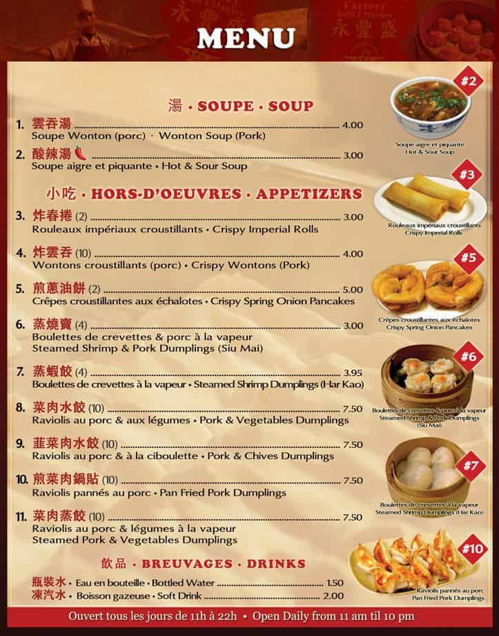 Free Restaurant Menu sample 11.461