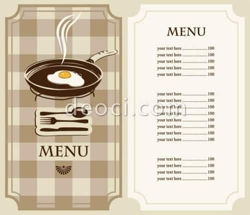 Free Restaurant Menu sample 13.641