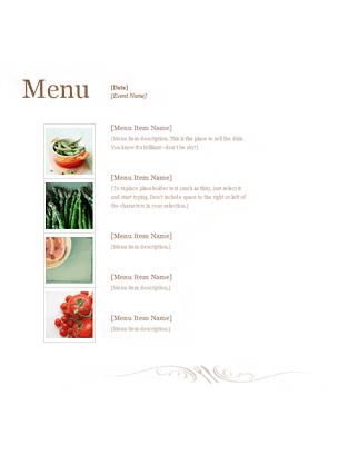 Free Restaurant Menu sample 2641