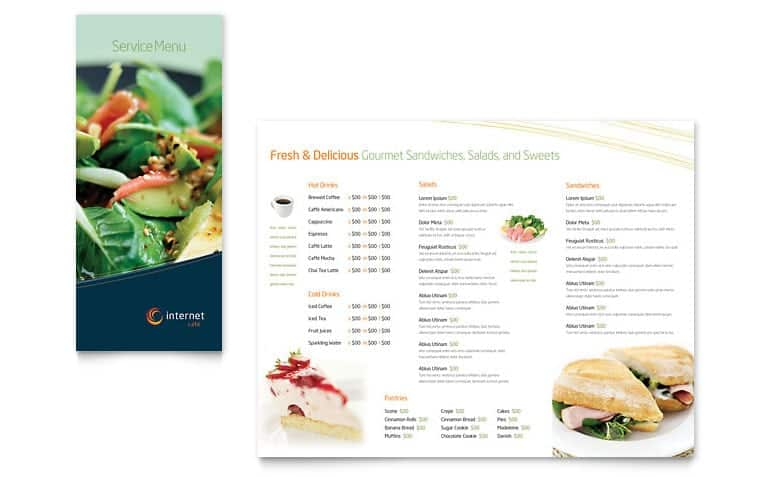 Free Restaurant Menu sample 39641