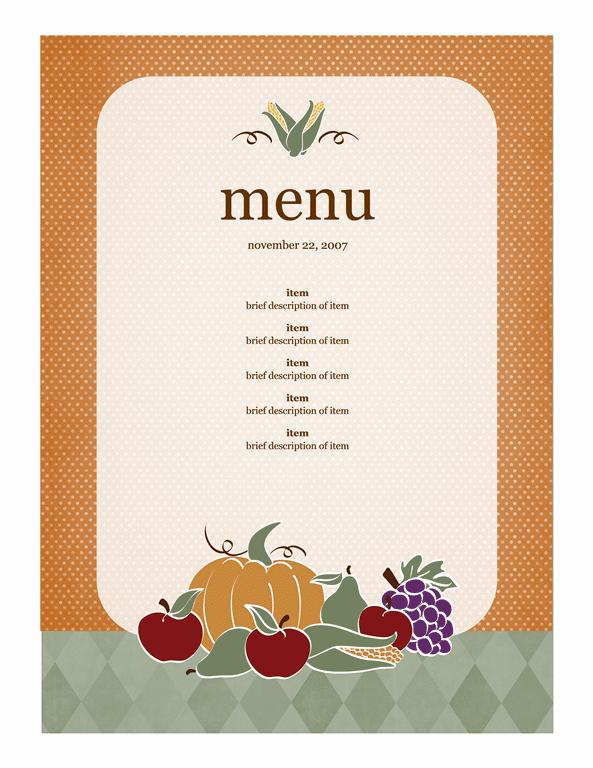 Free Restaurant Menu sample 4941