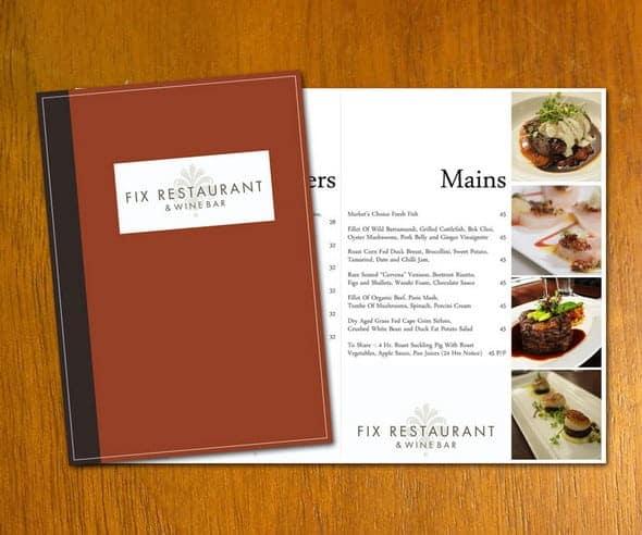 Free Restaurant Menu sample 8941