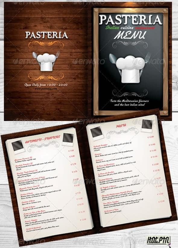 Free Restaurant Menu sample 941