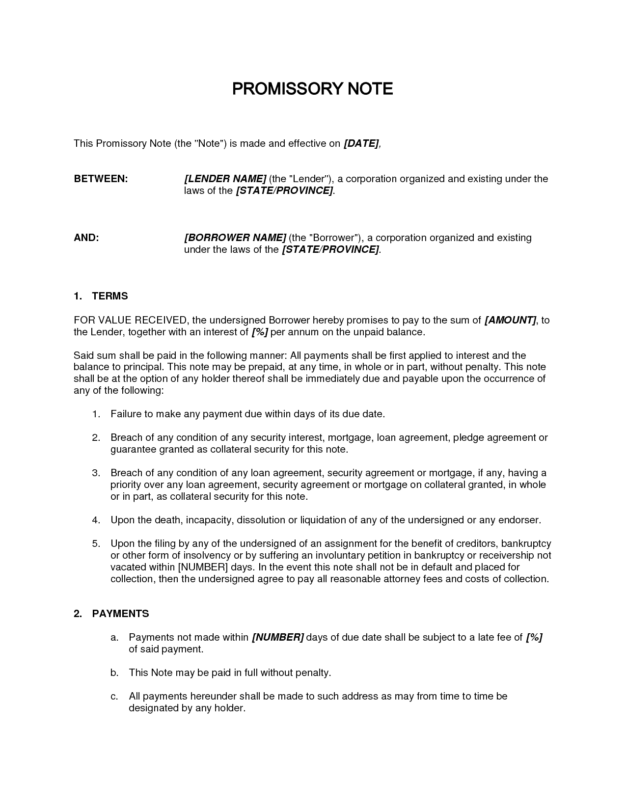 Promissory Note sample 14.41