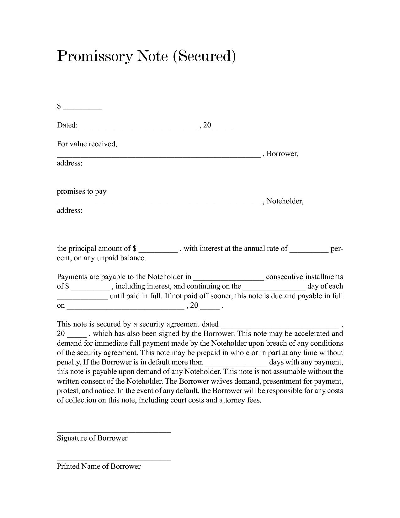 Promissory Note sample 15.41