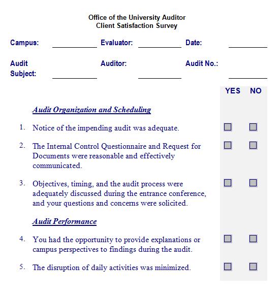 Satisfaction Survey Template 2461